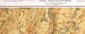 Map of the battle field of Gettysburg. July 1st, 2nd, 3rd, 1863 Maps of Daily Positions at the Battlefield at Gettysburg (1876) Date: 1867 Author: John Bachelder Dwnld: 01 || 02 || 03 Source: Library of Congress Print Availability: See our Prints Page for more details pff This map isn't part of any series, but we have other maps of the Civil War that you might want to check out....