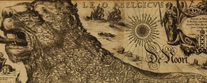 Leo Belgicus Map of Belgium as a Lion - 1611 Date: 1611 Author: Jodocus Hondius Dwnld: Full Size (10.47mb) Source: Library of Congress Print Availability: See our Prints Page for more details pff This map isn't part of any series, but we have other maps of Europe that you might want to check out. I first saw this Hondius map of Belgium [gmap] depicted as a Lion on some other map...