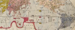 Akitaya Naniwa&#039;s World Map. Japanese wood-block print. Made c. 1785. Japanese Wood block World Map Date: 1785? Author: Nagakubo Sekisui Dwnld: Full Size (13.5mb) Print Availability: See our Prints Page for more details pff This map isn&#039;t part of any series, but we have other non-Western maps that you might want to check out. Nagakubo Sekisui&#039;s 1785 reproduction of Matteo Ricci&#039;s Mundi from 1602.