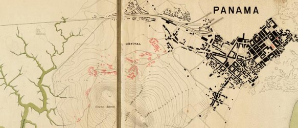Three Maps Of The Proposed Panama Canal 1895