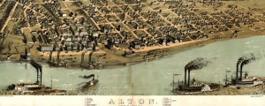 Alton, Madison Co., Illinois 1867. Drawn from nature by A. Ruger. Ruger&#039;s map of Alton, Illinois (1867) Date: 1867 Author: Albert Ruger Dwnld: Full Size (11.64mb) Source: Library of Congress Print Availability: See our Prints Page for more details pff This map isn&#039;t part of any series, but we have other maps of Illinois that you might want to check out. Albert Ruger&#039;s birdseye map of Alton, Illinois&nbsp;[gmap]  hometown...