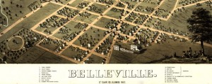 Belleville, St. Clair Co., Illinois 1867. Drawn by R. [sic] Ruger. Ruger's map of Belleville, Illinois (1867) Date: 1867 Author: Albert Ruger Dwnld: Full Size (14.04mb) Source: Library of Congress Print Availability: See our Prints Page for more details pff This map isn't part of any series, but we have other maps of Illinois that you might want to check out. Albert Ruger's map of Belleville, Illinois [gmap] in 1867. Belleville...