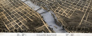Grand Rapids, Michigan 1868. Drawn by A. Ruger. Ruger&#039;s map of Grand Rapids (1868) Date: 1868 Author: Albert Ruger Dwnld: Full Size (15.02mb) Source: Library of Congress Print Availability: See our Prints Page for more details pff This map isn&#039;t part of any series, but we have other maps of Michigan that you might want to check out. Albert Ruger&#039;s birdseye map of Grand Rapids, Michigan&nbsp;[gmap] -- home of the...