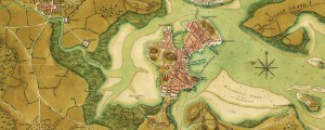 A plan of the town of Boston and its environs, with the lines, batteries, and incampments of the British and American armies. Map of Boston and Surrounding Area Showing Revolutionary War Armies (1776) Date: 1776 Author: Sir Thomas Hyde Page Dwnld: Full Size (10.12mb) Source: Library of Congress Print Availability: See our Prints Page for more details pff This map isn't part of any series, but we have other maps […]