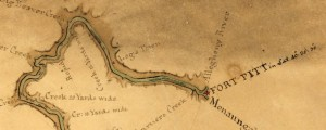 Map of the Ohio River from Fort Pitt Map of the Ohio River from Fort Pitt (1776) Date: 1776 Author: John Montresor Dwnld: Full Size (1.71mb) Source: Library of Congress Print Availability: See our Prints Page for more details pff This map isn&#039;t part of any series, but we have other maps of the Revolutionary War that you might want to check out. This map of the Ohio River downstream...