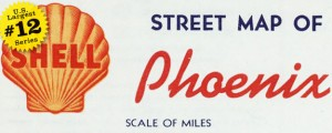 Street map of Phoenix by Shell Oil Company – 1956 US40 #12 PHOENIX, ARIZONA (Street Map, 1956) Date: 1956 Author: Shell Oil Co Dwnld: Full Size (14mb) Source: Rumsey Map Collection Print Availability: See our Prints Page for more details pff This map is part of a series depicting the 40 largest cities in the United States (as ranked by CBSA). This series will run through the month of July....
