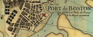 Carte du port et havre de Boston avec les côtes adjacentes, dans laquel on a tracée les camps et les retranchemens occupé, tant par les Anglois que par les Américains. French Map of Boston Harbor Showing Combatants (1776) Date: 1776 Author: Beaurain Dwnld: Full Size (14.65mb) Source: Library of Congress Print Availability: See our Prints Page for more details pff This map isn't part of any series, but we have […]