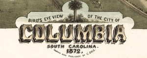 Bird's eye view of the city of Columbia, South Carolina 1872. Drie's map of Columbia, South Carolina (1872) Date: 1872 Author: Camille N. Drie Dwnld: Full Size (14.39mb) Source: Library of Congress Print Availability: See our Prints Page for more details pff This map isn't part of any series, but we have other maps of South Carolina that you might want to check out. Camille Drie is a birdseye map...