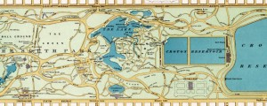 Hinrichs&#039; guide map of the Central Park. Hinrichs&#039; guide to Central Park (1875) Date: 1875 Author: Oscar Hinrichs Dwnld: Full Size (3.59mb) Source: Library of Congress Print Availability: See our Prints Page for more details pff This map isn&#039;t part of any series, but we have other maps of New York City that you might want to check out. Oscar Hinrichs&#039; guide map to Olmsted&#039;s Central Park&nbsp;[gmap] in New York...