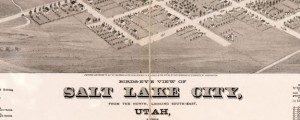 Birds-eye view of Salt Lake City, Utah 1875. Strobridge and Co. Lith. Glover&#039;s map of Salt Lake City (1875) Date: 1875 Author: E.S. Glover Dwnld: Full Size (12.52mb) Source: Library of Congress Print Availability: See our Prints Page for more details pff This map isn&#039;t part of any series, but we have other maps of Utah that you might want to check out. E.S. Glover&#039;s birdseye map of Salt Lake...