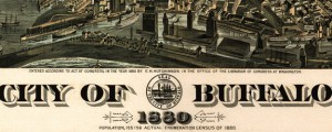The city of Buffalo, N.Y. 1880. Maerz Lithographing Co. Howard's map of Buffalo, New York (1880) Date: 1880 Author: Edward Howard Hutchinson Dwnld: Full Size (17.87mb) Source: Library of Congress Print Availability: See our Prints Page for more details pff This map isn't part of any series, but we have other maps of New York that you might want to check out. Edward Howard's map of Buffalo, New York [gmap] in...