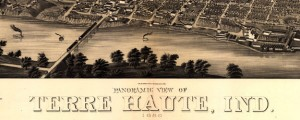 Panoramic view of Terre Haute, Ind. 1880. Birdseye map of Terre Haute (1880) Date: 1880 Author: Beck and Pauli Dwnld: Full Size (15.03mb) Source: Library of Congress Print Availability: See our Prints Page for more details pff This map isn't part of any series, but we have other maps of Indiana that you might want to check out. Beck and Pauli's birdseye map of Terre Haute, Indiana [gmap] in 1880. For...
