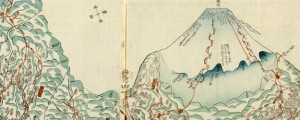 Suruga no Kuni zenzu Japanese Wood Block Map showing Mt Fuji (1830s) Date: 1830 Author: Kozaburo Kikuya Dwnld: Full Size (12.10mb) Source: Library of Congress Print Availability: See our Prints Page for more details pff This map isn't part of any series, but we have other maps of Japan that you might want to check out. Gonna need some help with this one, here. No clue.