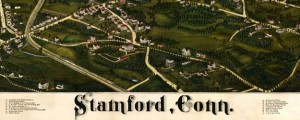 Stamford, Conn. Drawn by L. R. Burleigh. Burleigh's map of Stamford, Connecticut (1883) Date: 1883 Author: Lucien R. Burleigh Dwnld: Full Size (14.01mb) Source: Library of Congress Print Availability: See our Prints Page for more details pff This map isn't part of any series, but we have other maps of New England that you might want to check out. L.R. Burleigh's map of Stamford, Connecticut [gmap] in 1883. For more map...