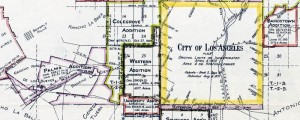 Territory Annexed to the City of Los Angeles, California, 1781-1916 L.A., Annexed Terr. Date: 1916 Author: J.R. Prince Dwnld: Full Size (10mb) Print Availability: See our Prints Page for more details pff This map isn't part of any series, but we have other California maps that you might want to check out. I'm excited to be heading out to Los Angeles[gmap] tomorrow to show our film at the Los Angeles […]