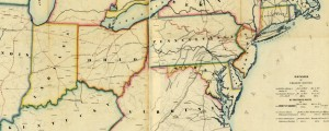 Pennsylvania's great highway and its tributary lines Map of the U.S. Northeast showing the Erie Railroad (1850s) Date: 1850 Author: Augustus Kollner Dwnld: Full Size (16.22mb) Source: Library of Congress Print Availability: See our Prints Page for more details pff This map isn't part of any series, but we have other maps of railroads that you might want to check out. Kollner's colorful -- if a bit dippy-looking -- map...