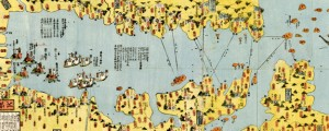 Shinkoku fukui butoku anmin, Okatame taihei kagami : Izu, Sagami, Musashi, Awa, Kazusa, Shimōsa Japanese Map of Tokyo Bay in 1852 Date: 1852 Author: Unknown Dwnld: Full Size (15.71mb) Source: Library of Congress Print Availability: See our Prints Page for more details pff This map isn't part of any series, but we have other maps of Tokyo that you might want to check out. Got no context for this one. […]