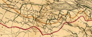 Map of the various channels for conveying the trade of the north west to the Atlantic sea-board Vaughan&#039;s Map of the Northeastern U.S. Showing Canals and Railroads (1853) Date: 1853 Author: David Vaughan Dwnld: Full Size (11.42mb) Source: Library of Congress Print Availability: See our Prints Page for more details pff This map isn&#039;t part of any series, but we have other maps of railroads that you might want to...