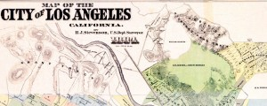 "1884 H.J. Stevenson survey map of Los Angeles Stevenson's survey of Los Angeles (1884) Date: 1884 Author: H.J. Stevenson Dwnld: Full Size (7.84mb) Source: Flickr user ""gsjansen"" Print Availability: See our Prints Page for more details pff This map isn't part of any series, but we have other maps of Southern California that you might want to check out. H.J. Stevenson's survey map of Los Angeles, California [gmap] in 1884. For..."