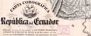 Carta corográfica de la Republica del Ecuador Villavicencio's Map of Ecuador in 1858 Date: 1858 Author: Manuel Villavicencio Dwnld: Full Size (19.09mb) Source: Library of Congress Print Availability: See our Prints Page for more details pff This map isn't part of any series, but we have other maps of Ecuador that you might want to check out. Mid-19th Century map of Ecuador.