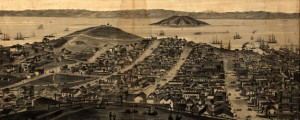 San Francisco, 1862, from Russian Hill Birdseye of San Francisco from Russian Hill in 1862 Date: 1862 Author: Rosenfield Dwnld: Full Size (19.14mb) Source: Library of Congress Print Availability: See our Prints Page for more details pff This map isn&#039;t part of any series, but we have other maps of San Francisco that you might want to check out. A gorgeously illustrated but quite weathered panoramic birdseye map of San...