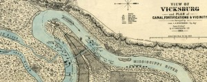 View of Vicksburg and plan of the canal, fortifications & vicinity View of Vicksburg, Mississippi showing Fortifications (1863) Date: 1863 Author: L A Wrotnowski Dwnld: Full Size (9.99mb) Source: Library of Congress Print Availability: See our Prints Page for more details pff This map isn't part of any series, but we have other maps of the U.S. Civil War that you might want to check out. Another map, this one...