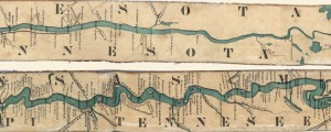 "Ribbon Map of the Father of Waters Ribbon Map of the Father of Waters; the Mississippi River in 1866 Date: 1866 Author: Coloney and Fairchild Dwnld: Full Size (10.99mb) Source: Library of Congress Print Availability: See our Prints Page for more details pff This map isn't part of any series, but we have other maps of the Mississippi River that you might want to check out. Of the many ""Ribbon..."