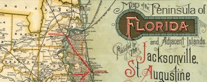 Map of the peninsula of Florida and adjacent islands : East Coast Line, the St. Augustine routes and connections. Railroad map of Florida (1893) Date: 1893 Author: Jacksonville, St. Augustine, and Indian River Railway Dwnld: Full Size (12.72mb) Source: Library of Congress Print Availability: See our Prints Page for more details pff This map isn&#039;t part of any series, but we have other maps of Florida that you might want...