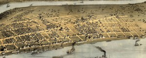 Cairo, Il[linois] 1867. Drawn from nature by A. Ruger Ruger's Birdseye Map of Cairo, Illinois (1867) Date: 1867 Author: Ruger Dwnld: Full Size (7.99mb) Source: Library of Congress Print Availability: See our Prints Page for more details pff This map isn't part of any series, but we have other maps of the Mississippi River that you might want to check out. A handsome Albert Ruger birdseye map of the town...