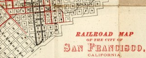 Railroad Map Of The City Of San Francisco, California Railroad Map Of The City Of San Francisco, California (1874) Date: 1874 Author: Edwards Dwnld: Full Size (7.88mb) Source: Rumsey Map Collection Print Availability: See our Prints Page for more details pff This map isn't part of any series, but we have other maps of San Francisco that you might want to check out. This map from the David Rumsey collection...