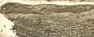 Panoramic view of the city of Halifax, Nova Scotia 1879. Ruger's Birdseye Map of Halifax, Nova Scotia (1879) Date: 1878 Author: Ruger Dwnld: Full Size (14.84mb) Source: Library of Congress Print Availability: See our Prints Page for more details pff This map isn't part of any series, but we have other maps of Nova Scotia that you might want to check out. An Al Ruger birdseye map of Halifax [gmap], Nova...