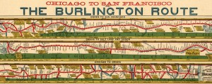 Chicago to San Franciso via the Burlington Route Chicago to San Francisco via the Burlington Railroad (1879) Date: 1879 Author: H R Page Dwnld: Full Size (6.32mb) Source: Library of Congress Print Availability: See our Prints Page for more details pff This map isn't part of any series, but we have other maps of San Francisco that you might want to check out. H.R. Page and Company map of a...