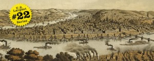 Birdseye map of Pittsburgh by Krens in 1874 US40 #22 PITTSBURGH, PENNSYLVANIA (Birdseye Map, 1874, KREBS) Date: 1874 Author: Krebs Dwnld: Full Size (6mb) Source: Library of Congress Print Availability: See our Prints Page for more details pff This map is part of a series depicting the 40 largest cities in the United States (as ranked by CBSA). This series will run through the month of July. Soothing Pittsburgh, Pennsylvania [gmap]...