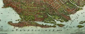 Bird's-eye-view of Brooklyn,Compliments of Woldmere Realty Co. Ohman's map of Brooklyn (1908) Date: 1908 Author: August R. Ohman Dwnld: Full Size (13.08mb) Source: Library of Congress Print Availability: See our Prints Page for more details pff This map isn't part of any series, but we have other maps of New York City that you might want to check out. August R. Ohman's birdseye map of Brooklyn [gmap] in 1908. For more...