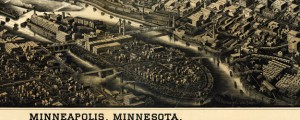Minneapolis, Minnesota Herancourt's Birdseye of Minneapolis, Minnesota in 1885 Date: 1885 Author: W V Herancourt Dwnld: Full Size (20.81mb) Source: Library of Congress Print Availability: See our Prints Page for more details pff This map isn't part of any series, but we have other maps of Minnesota that you might want to check out. A very interesting map with some interesting lighting effects by an artist named Herancourt. I can't...