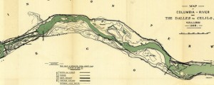Map of Columbia River from The Dalles to Celilo, Or. (1880) Map of Columbia River from The Dalles to Celilo, Or. (1880) Date: 1888 Author: US Army Corps of Eng Dwnld: Full Size (7.85mb) Source: WSU Print Availability: See our Prints Page for more details pff This map isn&#039;t part of any series, but we have other maps of the Pacific Northwest that you might want to check out. A...