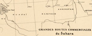 Grandes routes commerciales du Sahara Trade Routes of the Sahara (1889) Date: 1889 Author: E Blanc Dwnld: Full Size (6.28mb) Source: Library of Congress Print Availability: See our Prints Page for more details pff This map isn&#039;t part of any series, but we have other maps of Africa that you might want to check out. Late-19th Century French map of Trans-Saharan trade routes.