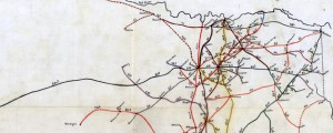 Bissell&#039;s railway junction point map of Texas Bissell&#039;s railway junction point map of Texas (1891) Date: 1891 Author: Bissell Dwnld: Full Size (8.75mb) Source: Library of Congress Print Availability: See our Prints Page for more details pff This map isn&#039;t part of any series, but we have other maps of railroads that you might want to check out. A late-19th Century map devised for calculation of freight rates in accordance...