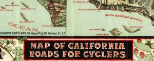 Map of California Roads for Cyclers Blum's Map of California Roads for Cyclers (1896) Date: 1896 Author: George W Blum Dwnld: Full Size (18.70mb) Source: Rumsey Map Collection Print Availability: Read the image's Imperfections Manifest page for a better understanding of this print. pff This map isn't part of any series, but we have other California maps that you might want to check out. As an avid cyclist, with close...