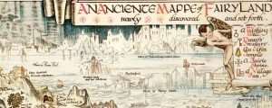 An anciente mappe of Fairyland : newly discovered and set forth: (imaginary locality) / designed by Bernard Sleigh. Sleigh's map of Fairyland (1872) Date: 1920 Author: Bernard Sleigh Dwnld: Full Size (19.00mb) Source: Library of Congress Print Availability: See our Prints Page for more details pff This map isn't part of any series, but we have other maps of fictive places that you might want to check out. Bernard Sleigh's...