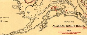 Map of the Alaskan gold fields Lee's Map of the Alaskan gold fields (1897) Date: 1897 Author: T S Lee Dwnld: Full Size (2.56mb) Source: Library of Congress Print Availability: See our Prints Page for more details pff This map isn't part of any series, but we have other maps of Alaska that you might want to check out. More Alaskan Gold Fields maps. Why... you'd think that our country...
