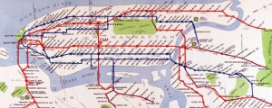 Routes of the Interborough Rapid Transit Company. Map of NYC subway routes (1924) Date: 1924 Author: Interborough Rapid Transit Co Dwnld: Full Size (11.89mb) Source: Library of Congress Print Availability: See our Prints Page for more details pff This map isn&#039;t part of any series, but we have other maps of New York City that you might want to check out. Subway routes of the Interborough Rapid Transit Company in...