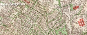 "Hills Publishing Co. map of Los Angeles Hill's street map of Los Angeles (1928) Date: 1928 Author: E.F. Hill Dwnld: Full Size (7.28mb) Source: Flickr user ""gsjansen"" Print Availability: See our Prints Page for more details pff This map isn't part of any series, but we have other maps of Southern California that you might want to check out. E.F. Hill's map of Los Angeles, California [gmap] in 1928. For more..."