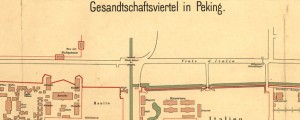 Gesandtschaftsviertel in Peking German Map of Embassies in Beijing (1903) Date: 1903 Author: Unknown Dwnld: Full Size (4.80mb) Source: Library of Congress Print Availability: See our Prints Page for more details pff This map isn&#039;t part of any series, but we have other maps of China that you might want to check out. Gonna need a Chinese translator for this one. Anyone got time to give me a rough sketch...