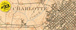 USGS Topographic Map of Charlotte in 1907 US40 #33 CHARLOTTE, NORTH CAROLINA (USGS Topo, 1908) Date: 1908 Author: USGS Dwnld: Full Size (6mb) Source: NC State Univ Print Availability: See our Prints Page for more details pff This map is part of a series depicting the 40 largest cities in the United States (as ranked by CBSA). This series will run through the month of July. Well, here&#039;s a real...