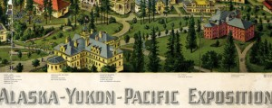 Authorized birds eye view of the Alaska-Yukon-Pacific Exposition (1909) Authorized birds eye view of Seattle's Alaska-Yukon-Pacific Exposition (1909) Date: 1909 Author: William Caughey Dwnld: Full Size (32.17mb) Source: WSU Print Availability: See our Prints Page for more details pff This map isn't part of any series, but we have other maps of World's Fairs that you might want to check out. In 1909 Seattle held a World's Fair to publicize...