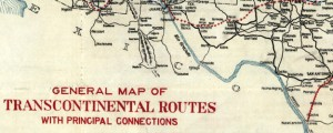 General map of transcontinental routes with principal connections AAA Map of General map of transcontinental routes with principal connections (1918) Date: 1918 Author: Amer Automobile Assn Dwnld: Full Size (17.05mb) Source: Library of Congress Print Availability: See our Prints Page for more details pff This map isn't part of any series, but we have other maps of railroads that you might want to check out. I've always loved roads; and...