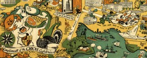 Oriole Map of Baltimore Oriole Cafeterias&#039; Map of Baltimore (1947) Date: 1947 Author: Oriole Cafeterias Dwnld: Full Size (6.14mb) Source: Johns Hopkins Map Library Print Availability: See our Prints Page for more details pff This map isn&#039;t part of any series, but we have other maps of Maryland that you might want to check out. Oriole Cafeteria&#039;s cartoon map of Baltimore, Maryland&nbsp;[gmap] in 1947 is marred, a bit, by some...