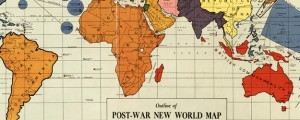 Outline of post-war new world map Gomberg&#039;s Outline of post-war new world map (1942) Date: 1942 Author: Maurice Gomberg Dwnld: Full Size (19.89mb) Source: Library of Congress Print Availability: See our Prints Page for more details pff This map isn&#039;t part of any series, but we have other world maps that you might want to check out. Here is the famous Gomberg Map, produced by Maurice Gomberg, of Philadelphia. Mr....