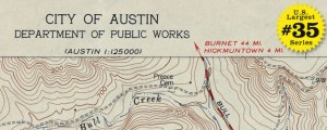 "USGS Topographic map of Austin – 1954 US40 #35 AUSTIN, TEXAS (USGS Topo, 1954) Date: 1954 Author: USGS Dwnld: Full Size (5mb) Source: Perry-Castañeda Print Availability: See our Prints Page for more details pff This map is part of a series depicting the 40 largest cities in the United States (as ranked by CBSA). This series will run through the month of July. Despite its rich history, emergent ""cultural mecca""..."